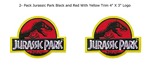 Price comparison product image Blue Heron Jurassic Park Movie Logo (2-Pack) Embroidered Iron/Sew-on Applique Patches