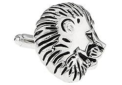 MRCUFF Lion Pair Cufflinks in a Presentation Gift Box & Polishing Cloth