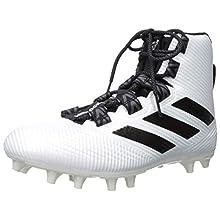 adidas Men's Freak Carbon High Football Shoe, White/Black/White, 18 Medium US