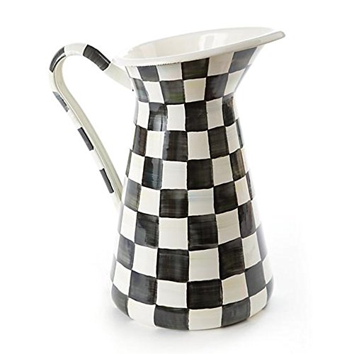 MacKenzie-Childs Courtly Check Enamel Practical Pitcher by MacKenzie-Childs