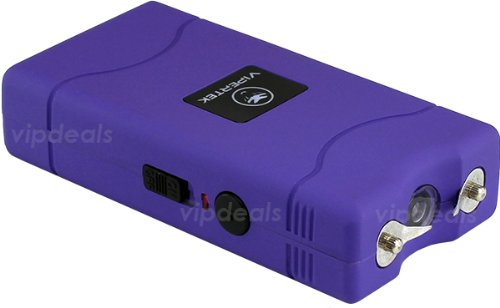 VIPERTEK-PURPLE-Mini-Stun-Gun-VTS-880-60-Million-Rechargeable-LED-Flashlight
