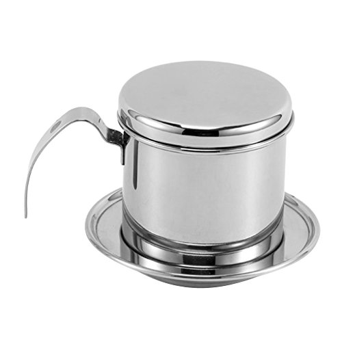 Flameer Portable Coffee Percolator Pot Lightweight Coffee Maker Outdoors Made of 304 Stainless Steel Camping Hiking by Flameer