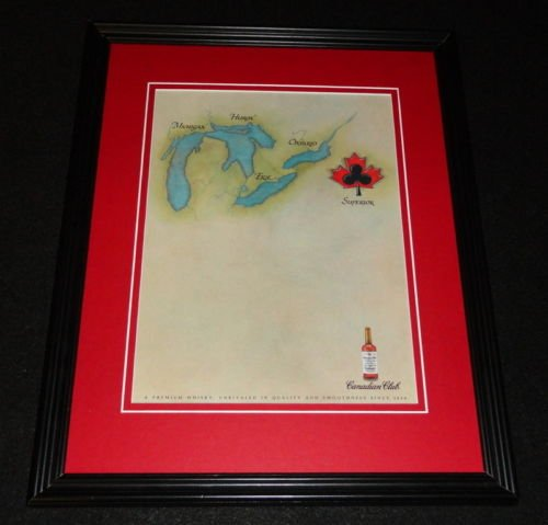 1991 Canadian Club Whisky Framed 11x14 ORIGINAL Advertisement