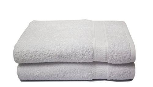 Luxury Hotel & Spa set of 2-piece 55 x 30 inches Bath Towels, 750GSM,100% Long Staple Combed Cotton. Premium set of 2 bath towels. ()