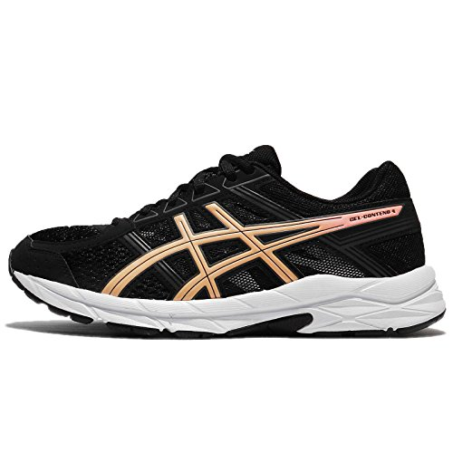 ASICS Women's Gel-Contend 4 D, Black/Apricot ICE/Carbon, 8 M - Apricot Gel