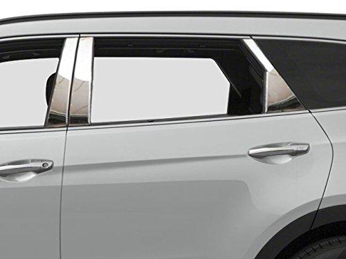 QAA FITS SANTA FE 2013-2018 HYUNDAI (6 Pc: Stainless Steel Pillar Post Trim Kit, 4-door, SUV ONY (NOT Sport)) PP13337 Quality Auto Accessories