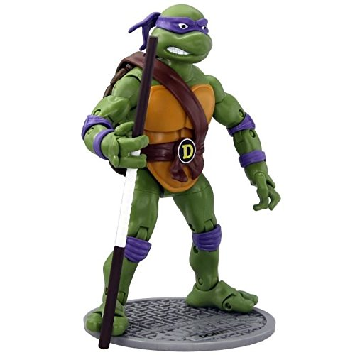 Playmates Teenage Mutant Ninja Turtles Retro Classic Collector Action Figures Set of 4 Michelangelo, Leonardo, Donatello and Raphael