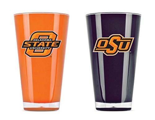 (NCAA Oklahoma State Cowboys 20oz Insulated Acrylic Tumbler Set of 2)