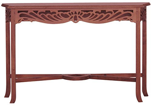 NES Furniture aba10428 Bordeaux End Table Fine Handcrafted Solid Mahogany Wood 47 inches Pecan