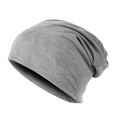 (Spring Women Men Unisex Knitted Winter Cap Casual Beanies Solid Color Hip-Hop Snap Slouch Skullies Bonnet Beanie Hat Gorro,Light Gray)