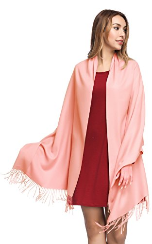 (Pashmina Shawls and Wraps for Women - PoilTreeWing Solid Color Cashmere Scarfs(Pastel))