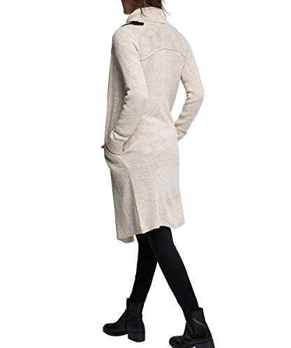 edc by Esprit 105CC1I022 Buckle Cardi-Chaqueta punto Mujer Beige - Beige (LIGHT BEIGE 290)