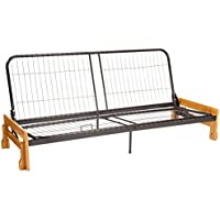 Bali Futon Sofa Sleeper Bed Frame, Queen-size, Natural Arm Finish