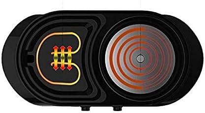 YAOZEDI-ElectricGrills Gril électrique marmite sans fumée antiadhésive 2 en 1 Barbecue/marmite Facile à Nettoyer 1200W