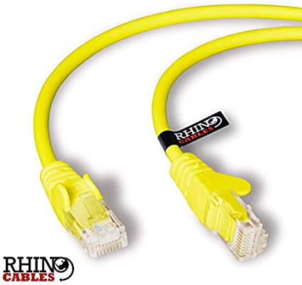rhinocables Cable de Red Ethernet LAN Cat.5e RJ45 - Cable de conexión a Red - UTP - Compatible con Conmutador, Router, módem, Punto de Acceso, para PC, TV Box, Nintendo Switch, Router,
