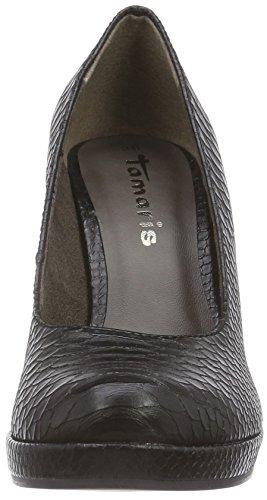 Tamaris 22426 - zapatos de tacón cerrados de material sintético mujer negro - Schwarz (Black Struct. 006)
