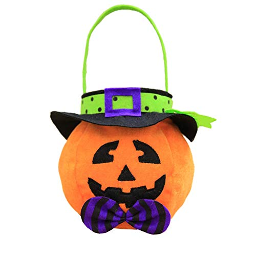 Handbag Non-Woven Fabric Halloween Element Bag for Gift Candy Chocolate Party Decoration(Pumpkin, Witch, Bat(Optional) Color: Colorful)