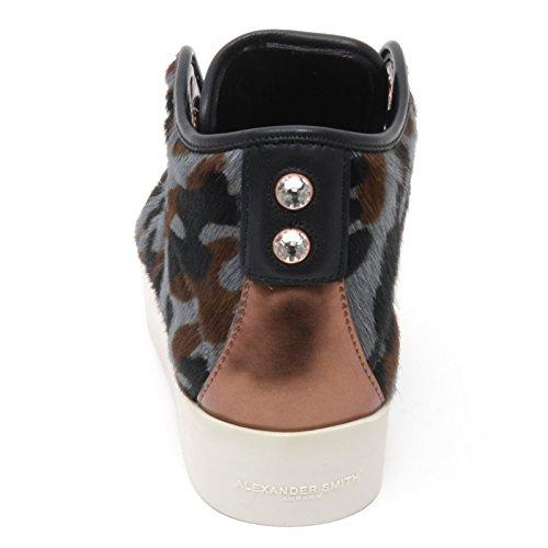 Woman Alta Sneaker Alexander marrone Nero Smith grigio Donna London B6682 Shoe nero Grigio v6qwSw