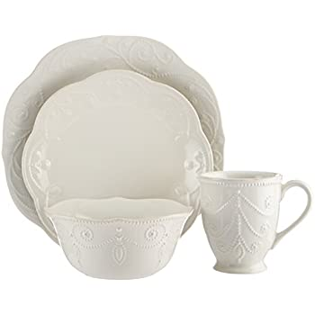 Lenox French Perle 4-Piece Place Setting White  sc 1 st  Amazon.com & Amazon.com: Mikasa French Countryside 5-Piece Place Setting ...