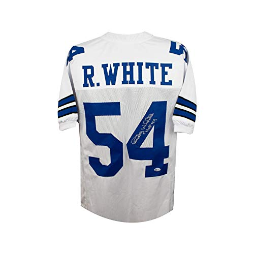 Randy White HOF Autographed Dallas Cowboys Custom White Football Jersey BAS COA