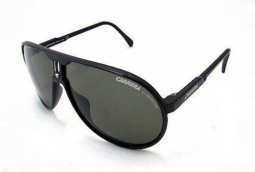 Carrera Carrera Champion/L Semi Shiny Black Frame/Green Lens - Black Champion Sunglasses Carrera Matte
