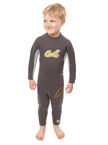 O'Neill Reactor Toddler Full Wetsuit Youth 1 Graphite/Cool Grey/Orange (4629B)