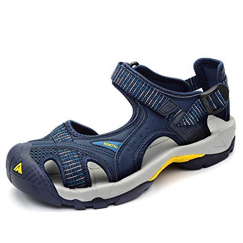 Men's Closed Toe Sandals - Water Shoes Sport Outdoor Upstream Hiking Climbing Fishing Amphibious Beach Walking-blue-11