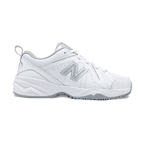 New Balance Women's WX619WS1, White/Silv, 8.5 D US