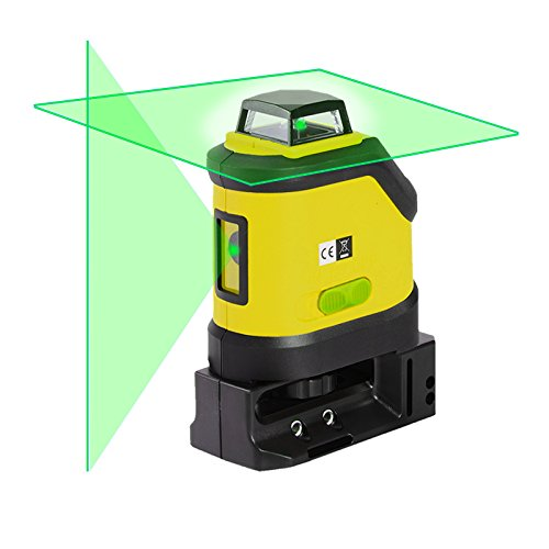Multifunction Laser Level - Firecore Laser Level 360 Degree Horizontal Plane Cross-line Laser with Magnetic Base, Green