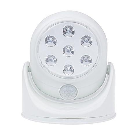 NUEVO Sensor de movimiento de rotación de 360 grados base 7 LED Luz para Interior/