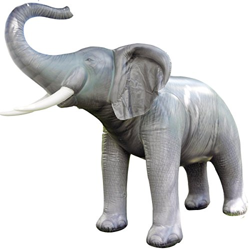 Inflatable Lifelike Life Size Replica Elephant, 84'' Tall by Jet Creations