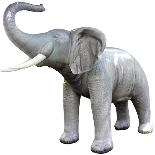 Jet Creations Inflatable Lifelike Life Elephant, -