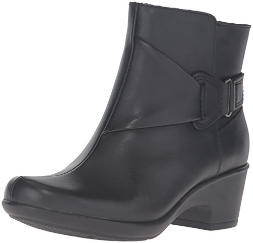 Clarks Women's Malia Mccall Boot, Black Leather, 8.5 M US