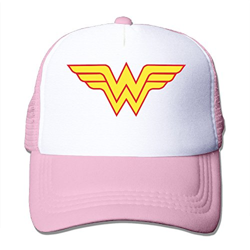 [Elnory Avengers Wonder Woman Logo Adjustable Mesh Hat Pink] (Movie Costumes Tumblr)