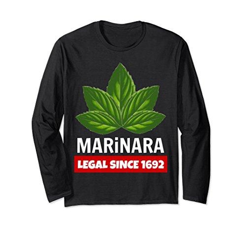 Marinara Legal Since 1692 Basil Leaves Food Humor Unisex Long-Sleeve T-Shirt