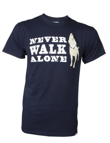Dog is Good Unisex Never Walk Alone Tee X-large Navy by Dog is Good