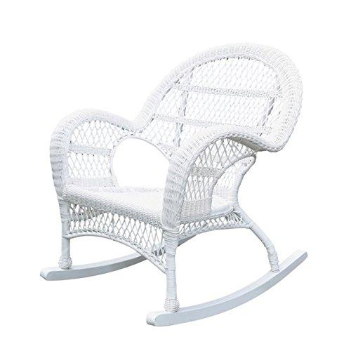 Jeco Rocker Wicker Chair in White Review