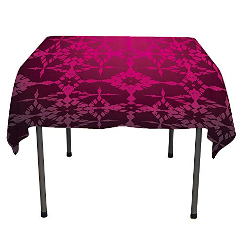 All of better Magenta Decor Clear Tablecloth Victorian Stylized Classical Bound Ornamental Mosaic Patterns Nostalgic Design Rosewood Stain resistanttablecloth Spring/Summer/Party/Picnic 70 by 70 Blue Rosewood Napkin Holder