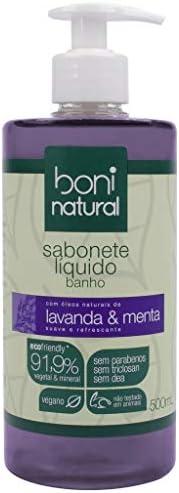 Sabonete Líquido de Lavanda e Menta, Vegano e Natural, Altamente Hidratante e Perfumado, Boni Natural, Roxo