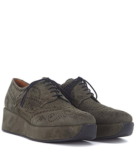 Quintana Shoes Cartie Women's Lace Suede up Green Hunter Green Pons UdaHwqU