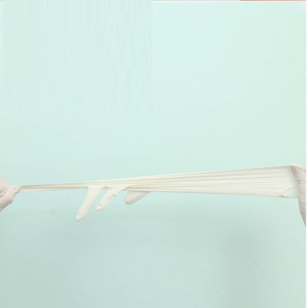 100 Une Bo/îte Gants En Latex Jetables Nbr En Caoutchouc Chirurgie Imperm/éable /À LEau Du Travail Assurance Qualit/é Alimentaire Restauration En Caoutchouc De Protection /Épais En Plastique Violet Long M