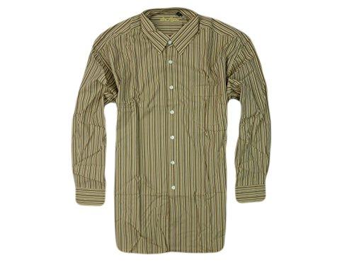 Ben Hogan Men's Long Sleeve Button Down Striped Shirt XX-Large Brown