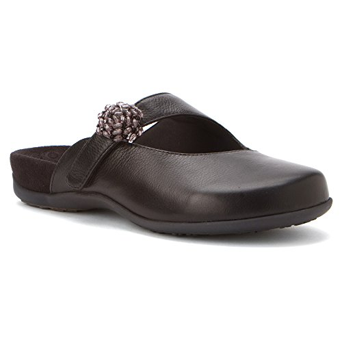 Vionic with Orthaheel Technology Women's Joan Mary Jane Mule,Black,US 9 M