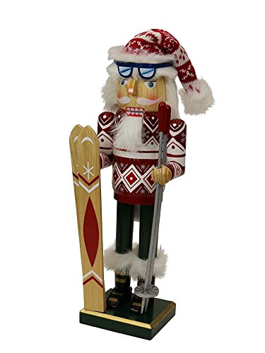 (Nutcrackers Red Winter Snow Skier Wooden Christmas [14719])