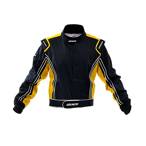 jxhracing RB-CR014-J Two Layers Fire Protection Racing Jacket Yellow Small (Protection Racing)