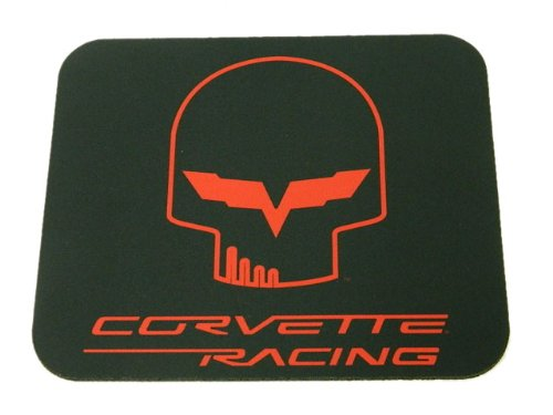 Corvette Racing Jake Mouse Pad Black and Red