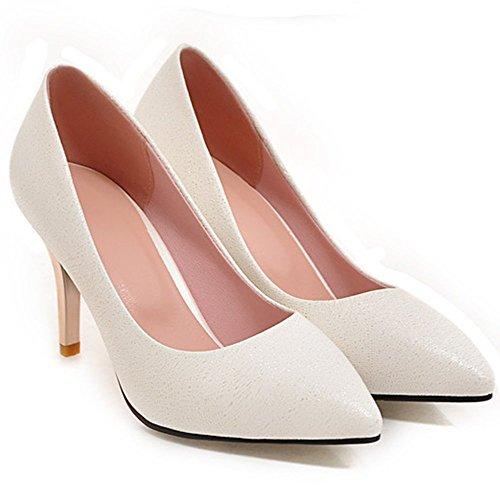 d83afc43 Moda Mujer PU Tacones De Dama De Honor Tacones De Novia Zapatos De Tacón De  Aguja