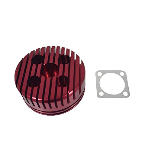 JRL CNC Cylinder Head for Racing 66cc/80cc Engine (red) ()