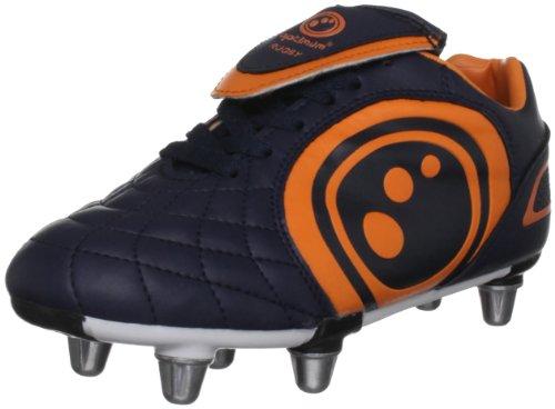 Optimum Eclipse - Zapatillas de rugby para niño azul oscuro y naranja