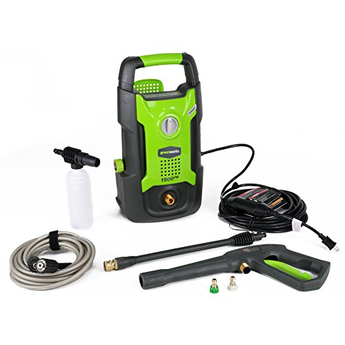Greenworks 1500 PSI 13 Amp 1.2 GPM Pressure Washer GPW1501 Power Washer